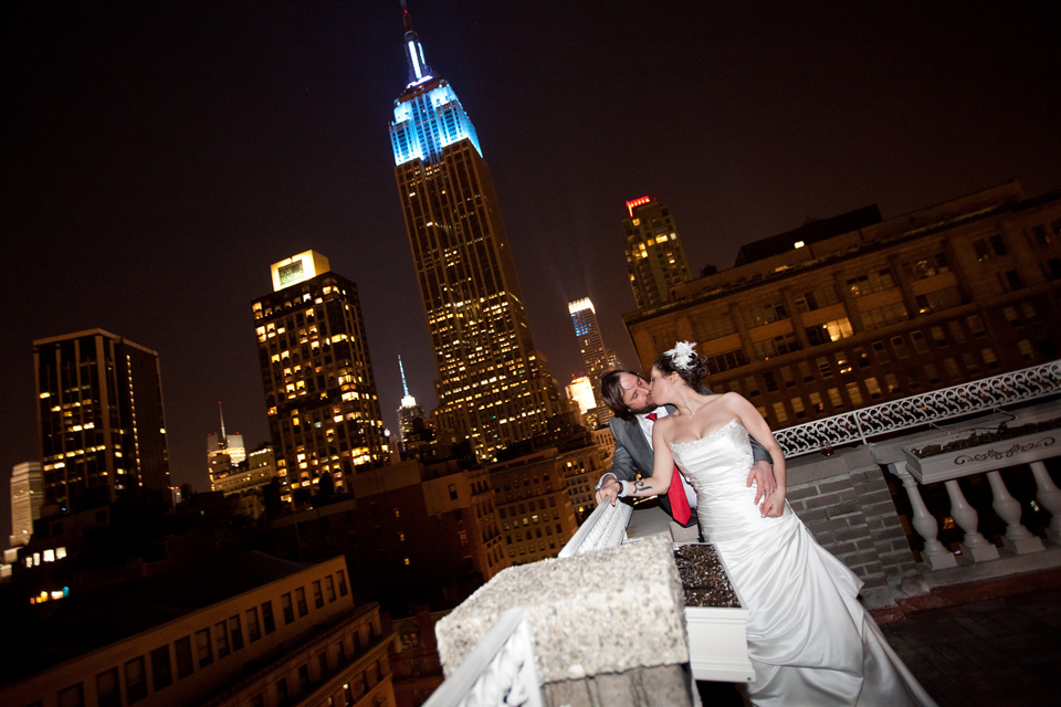 New York City Wedding Photography Midtown Loft Terrace