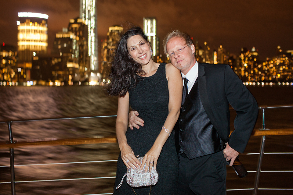 Hudson River cruise wedding