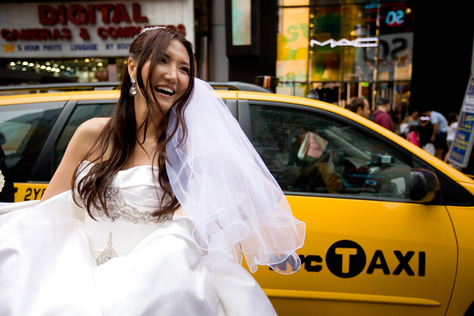 yellow cab wedding