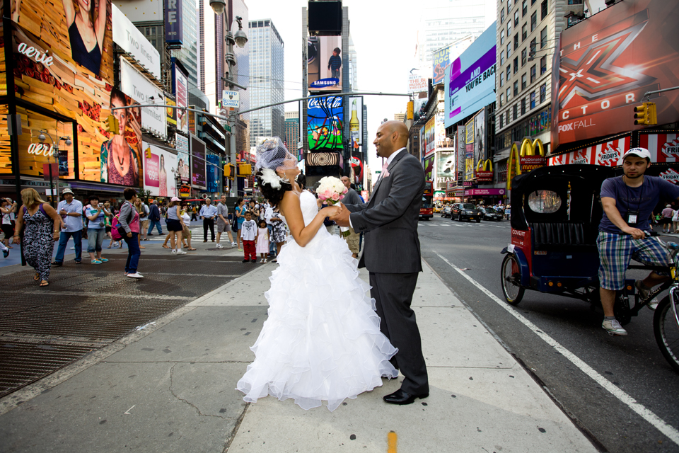 times square manhattan wedding