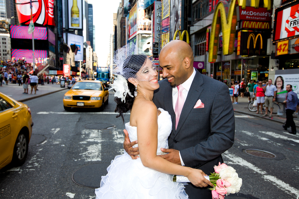 times square wedding photography