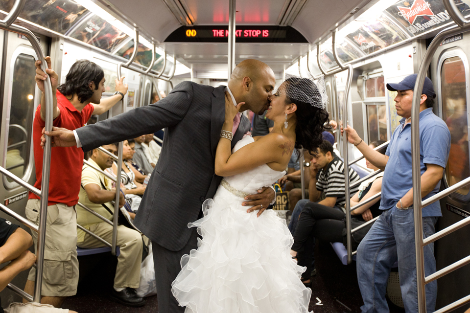 subway wedding photographer ny