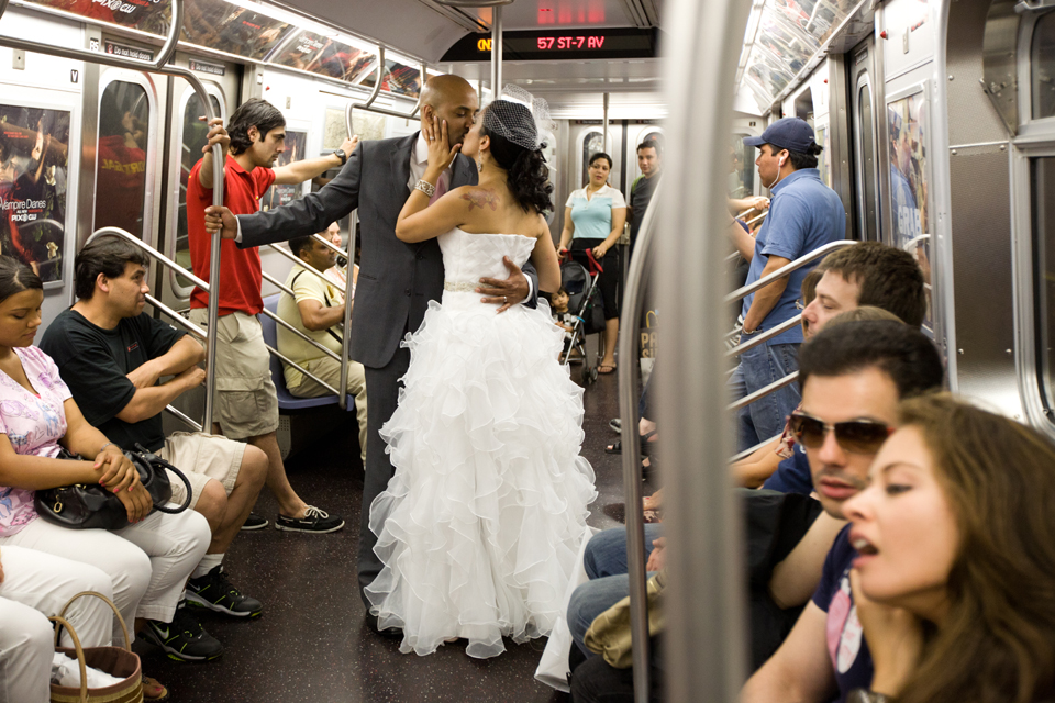 subway wedding new york