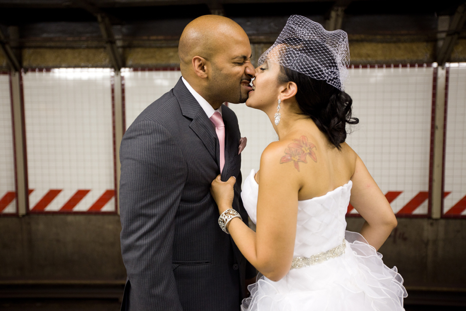 subway wedding photography ny