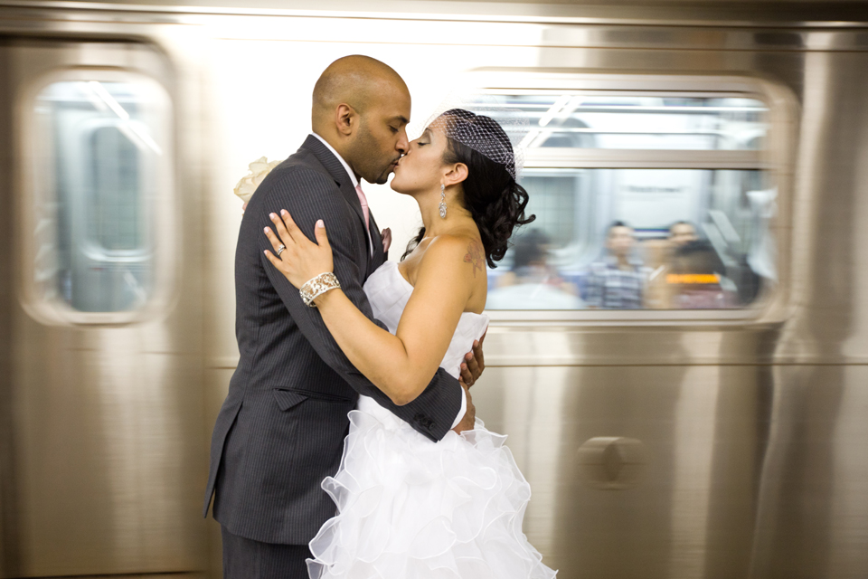 wedding in subway new york