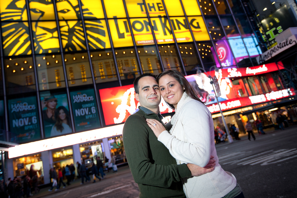 manhattan times square engagement photos