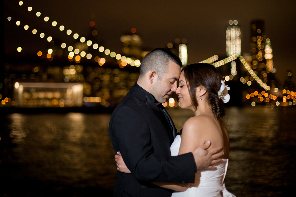 brooklyn bridge park night wedding photographer ny