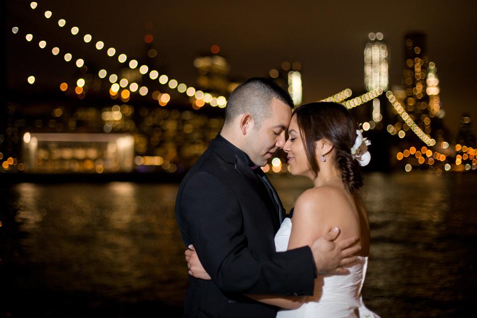 brooklyn bridge park night wedding photographer ny