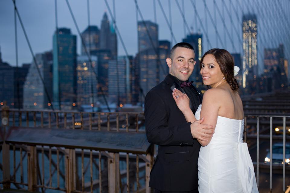 brooklyn bridge night wedding ceremony ny