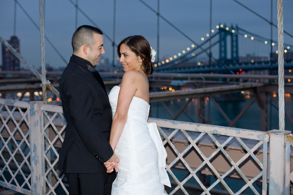 brooklyn bridge night wedding ceremony manhattan