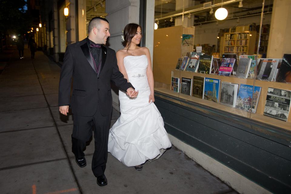 brooklyn bridge park dumbo night wedding ceremony ny