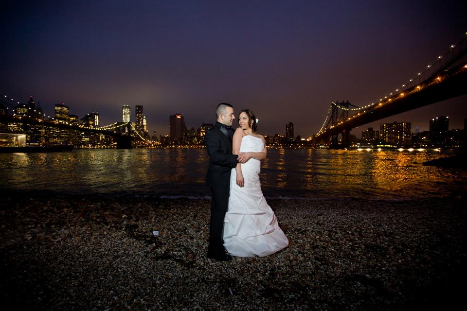 Photographer Ny Brooklyn Bridge Park Dumbo Night Wedding Ceremony