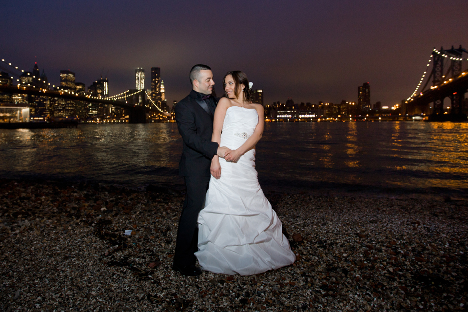 brooklyn bridge park dumbo night wedding ceremony ny