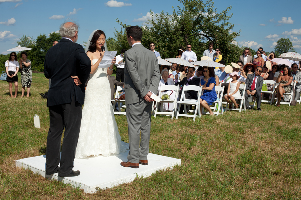 Wikens Fruit Fir Farm wedding ceremony