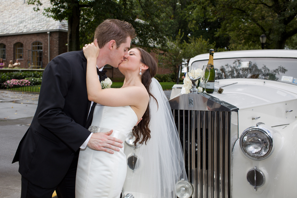 Brooklyn Dyker Beach Golf Wedding rolls royce limo