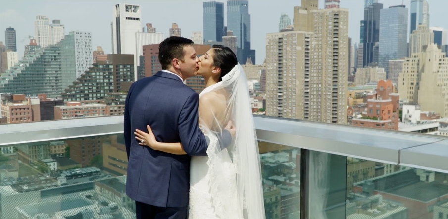Rooftop NYC Wedding Videography